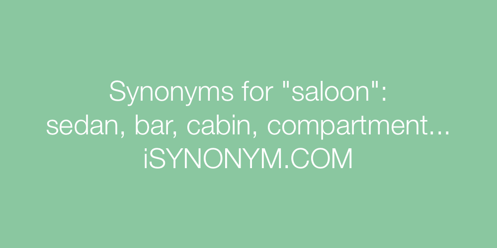 Synonyms saloon
