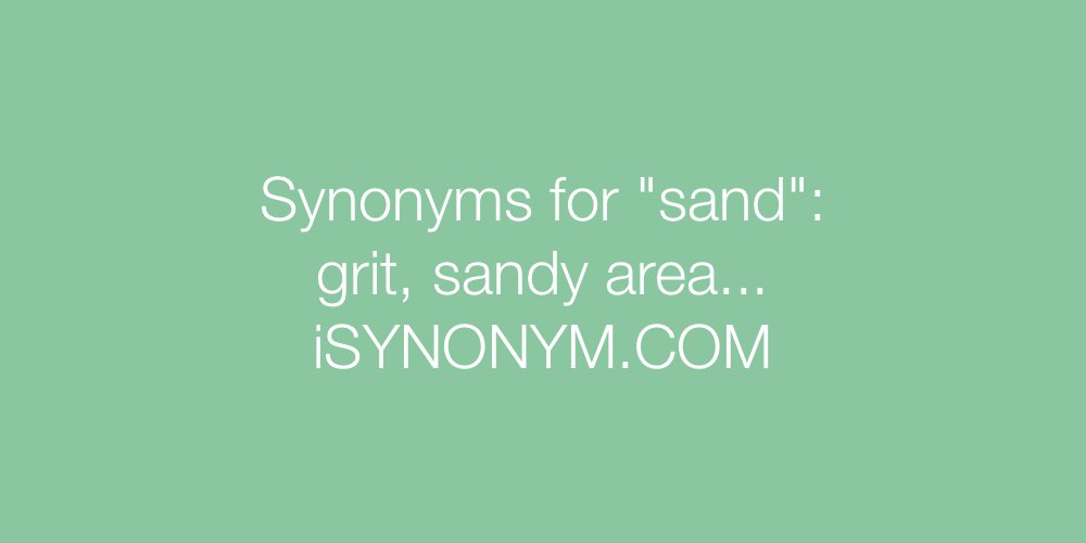 Synonyms sand