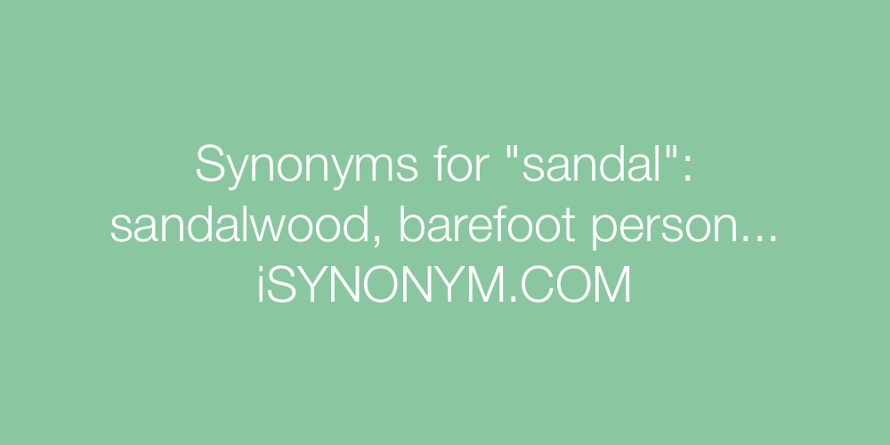 Synonyms sandal