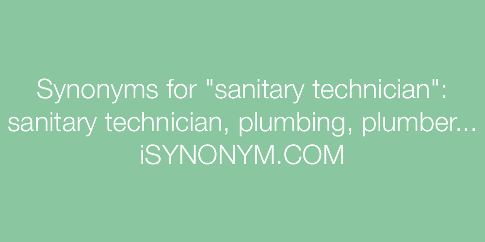 Synonyms sanitary technician