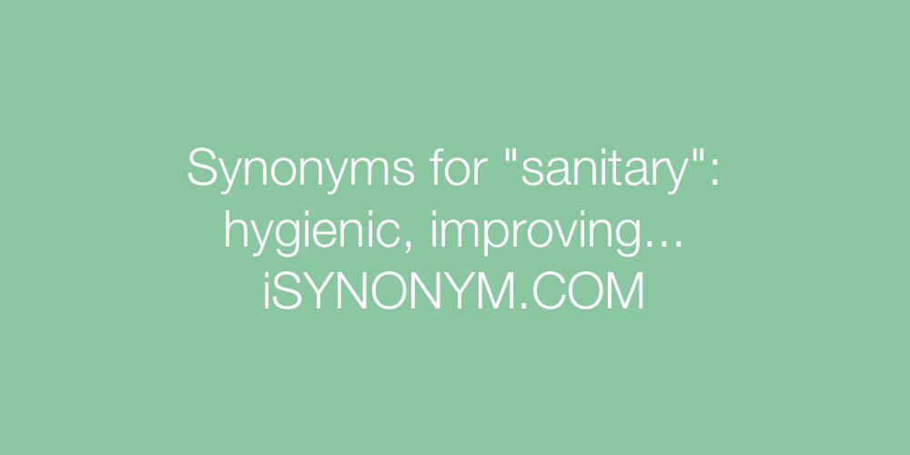 Synonyms sanitary