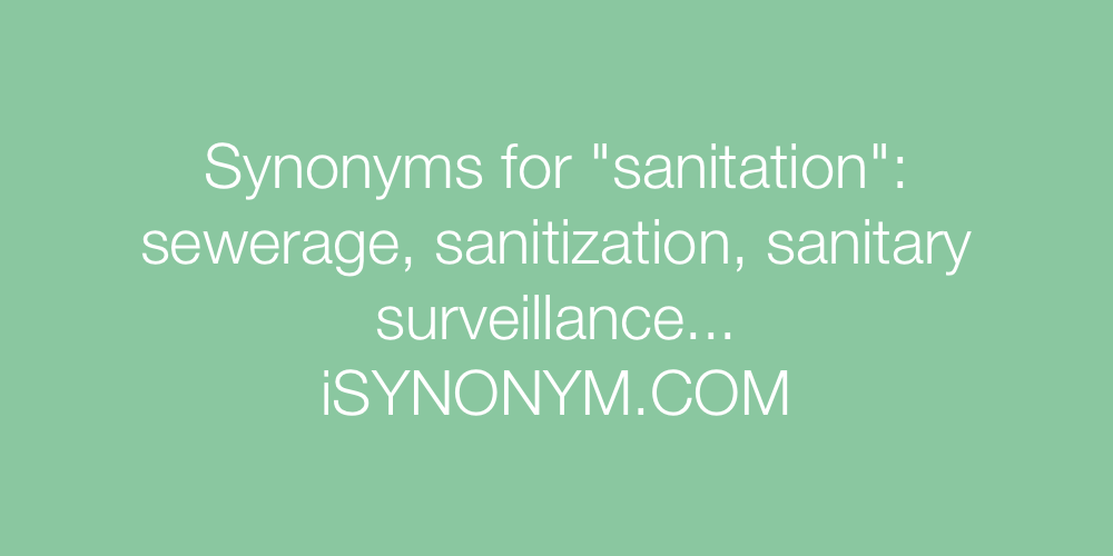Synonyms sanitation