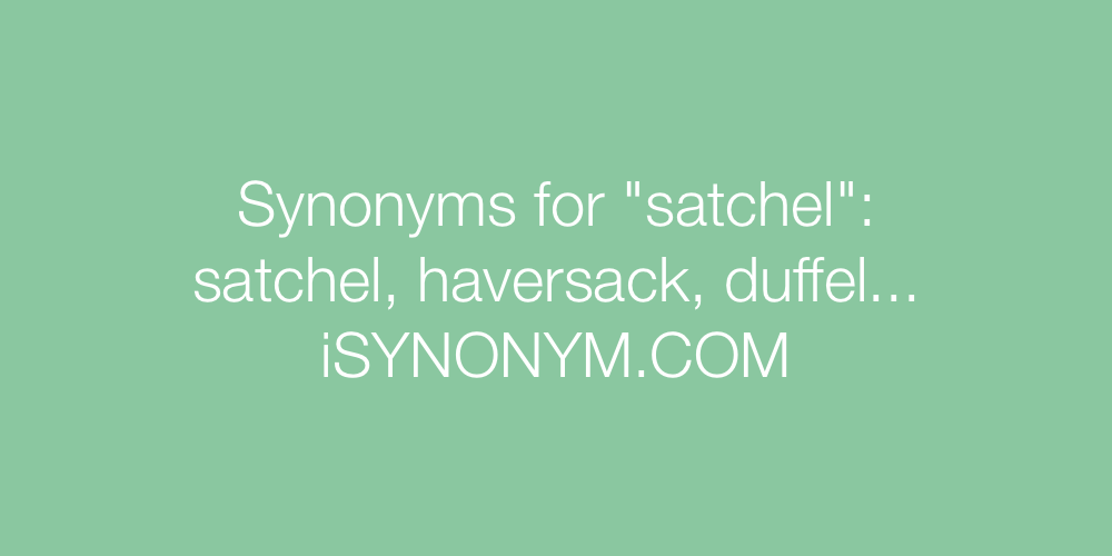 Synonyms satchel