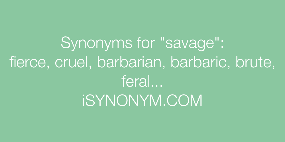 Synonyms savage