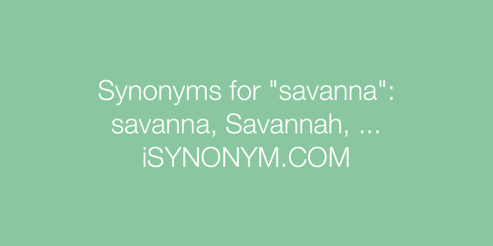 Synonyms savanna