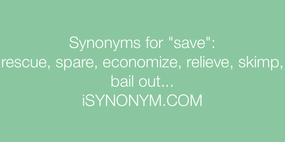 Synonyms save