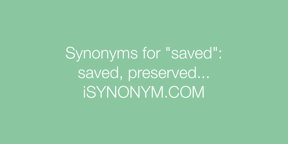 Synonyms saved