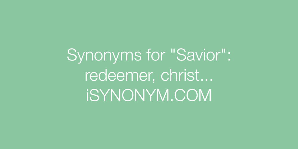Synonyms Savior