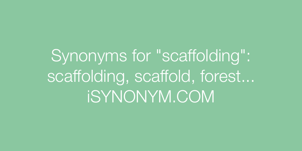 Synonyms scaffolding