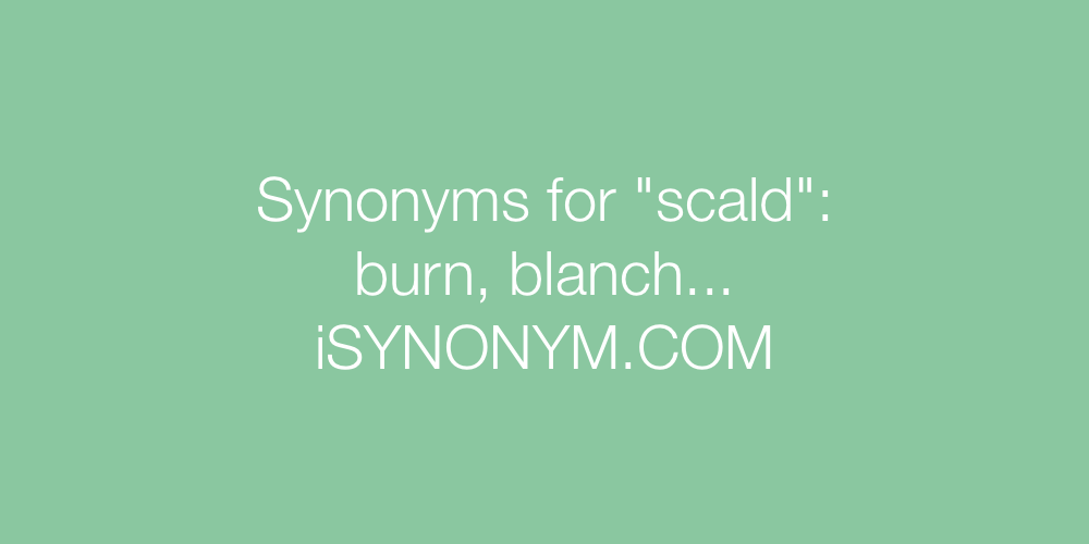 Synonyms scald