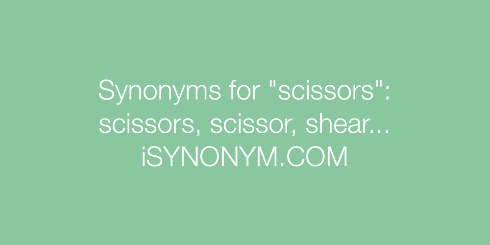 Synonyms scissors