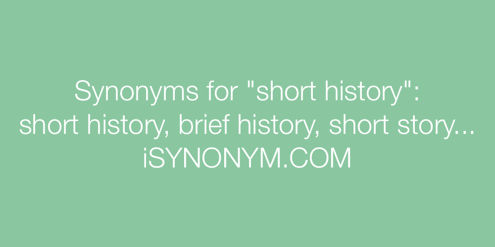 Synonyms short history