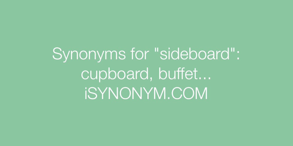 Synonyms sideboard