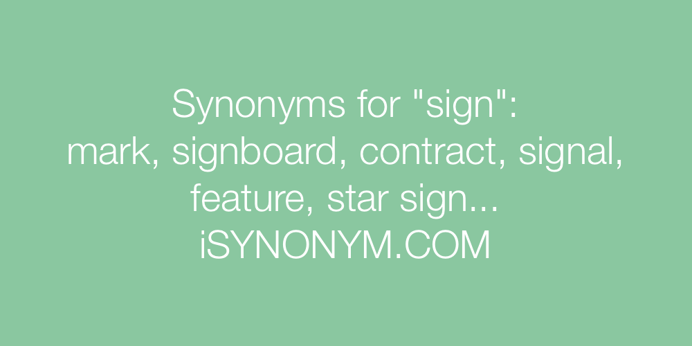 Synonyms sign