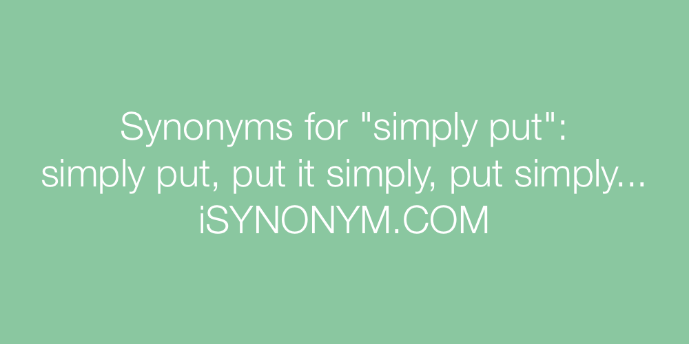 Synonyms simply put