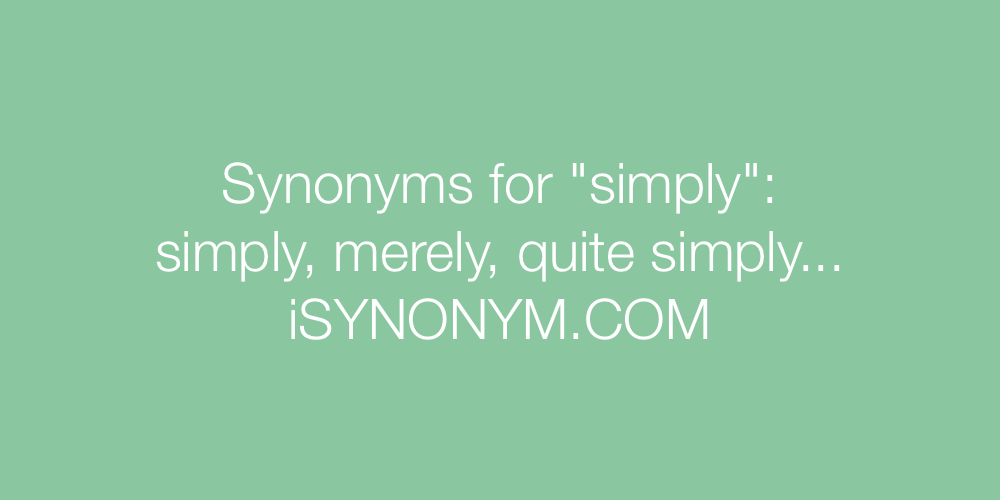 Synonyms simply