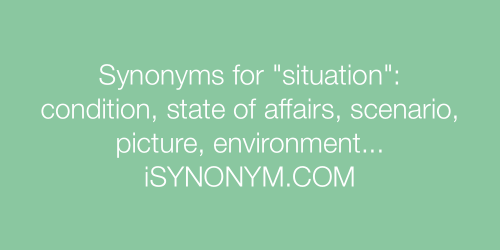 Synonyms situation