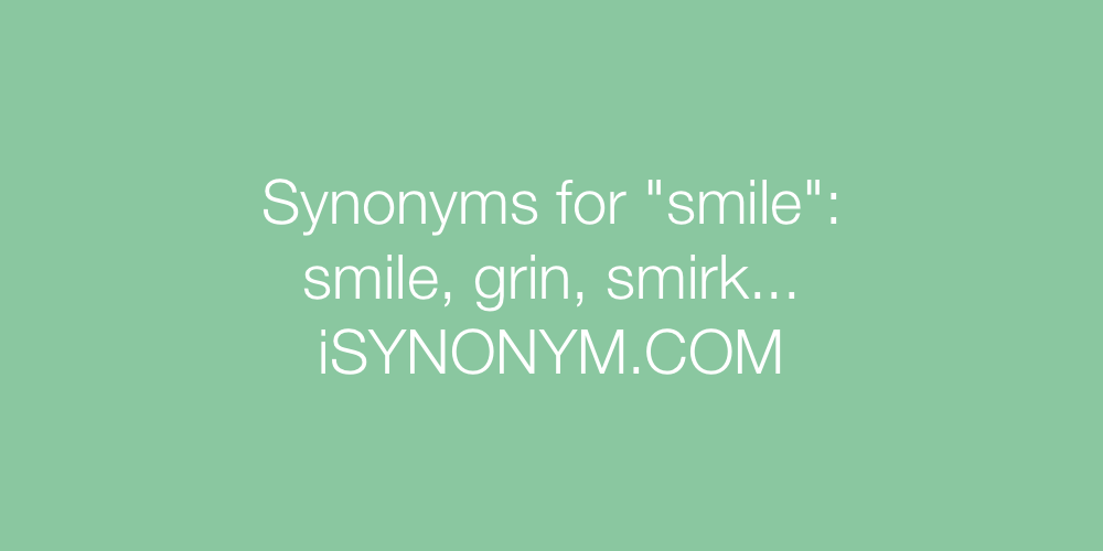Synonyms smile