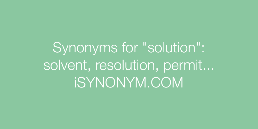 Synonyms solution