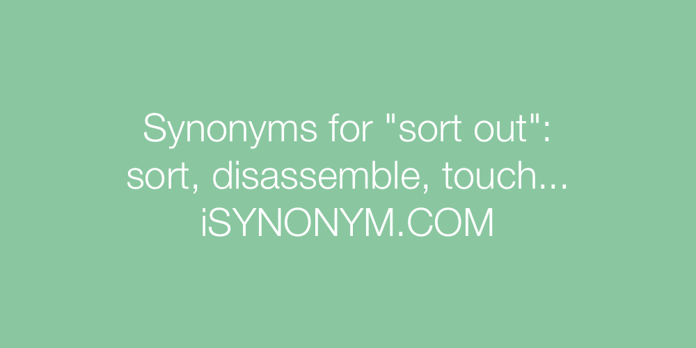 Synonyms sort out