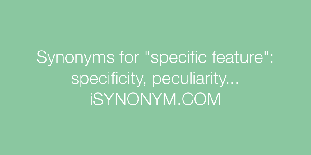 Synonyms specific feature