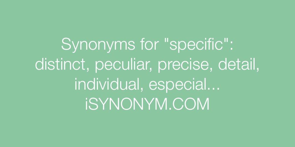 Synonyms specific