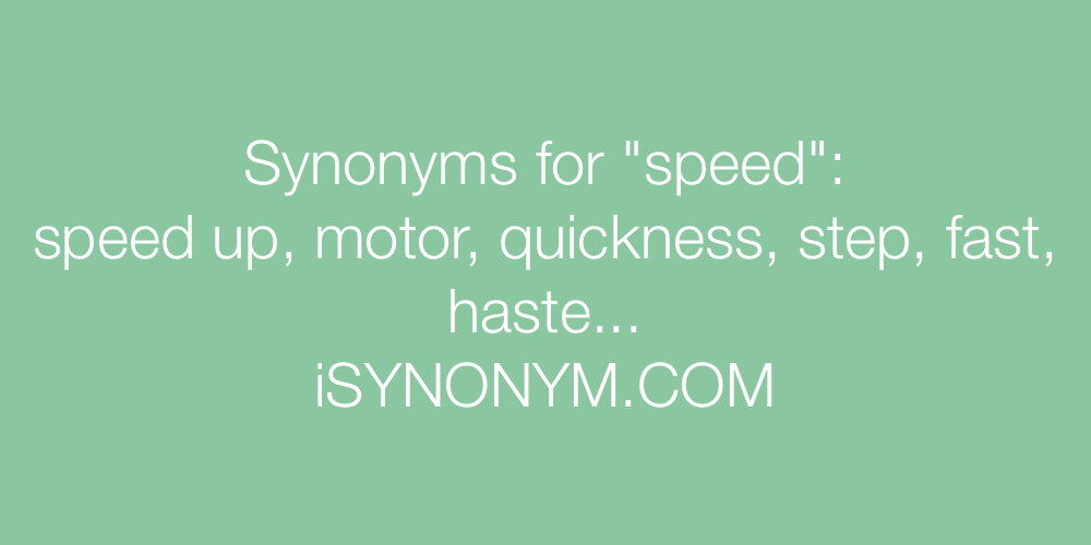 Synonyms speed