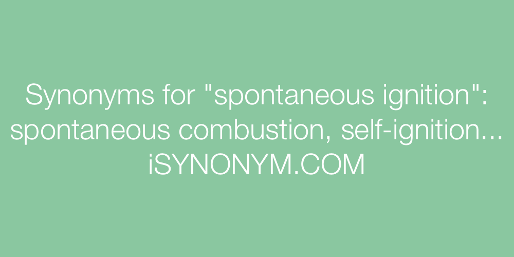 Synonyms spontaneous ignition