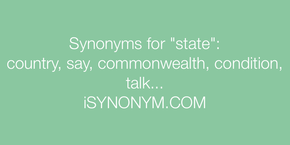 Synonyms state