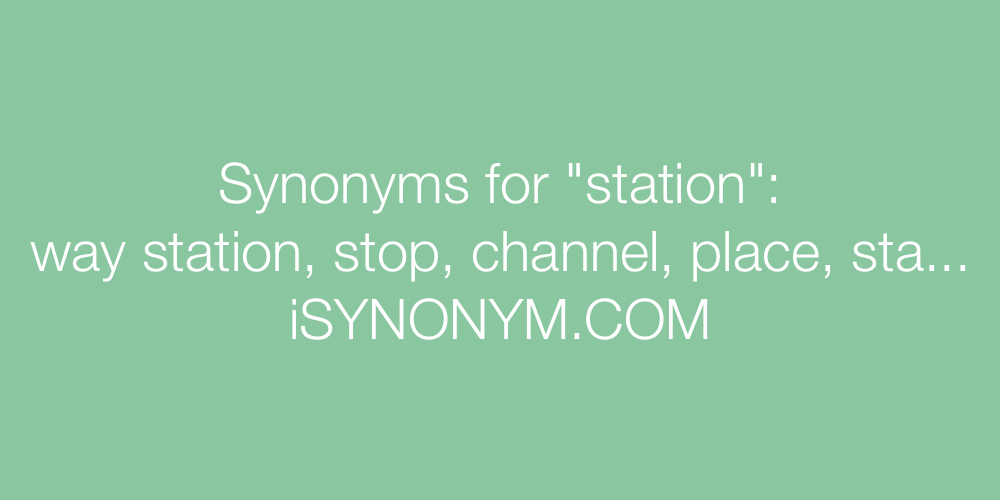 Synonyms station