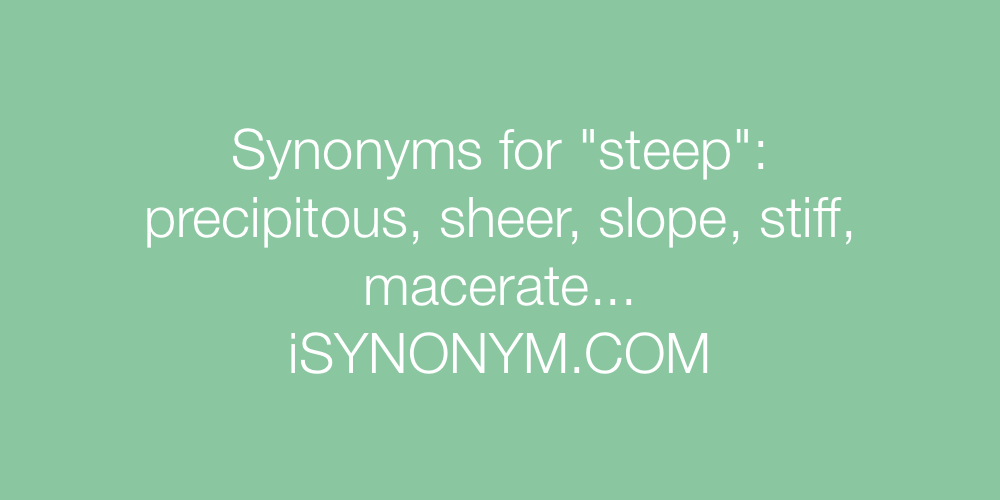Synonyms steep