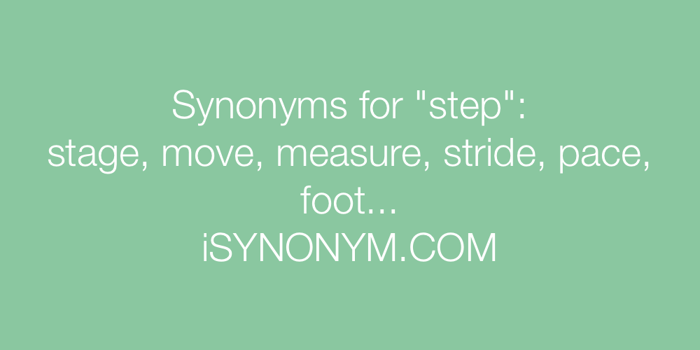Synonyms step