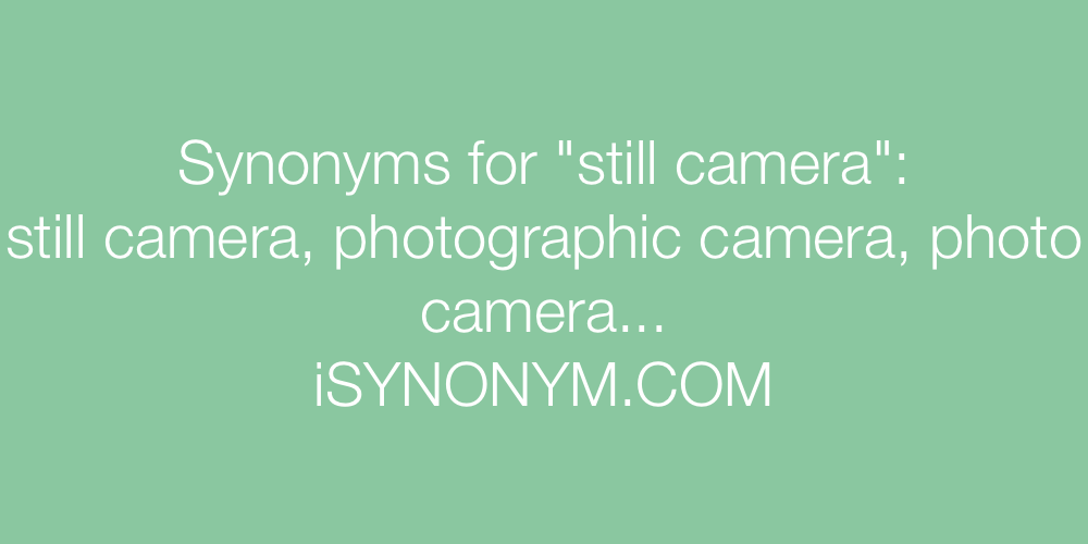 Synonyms still camera