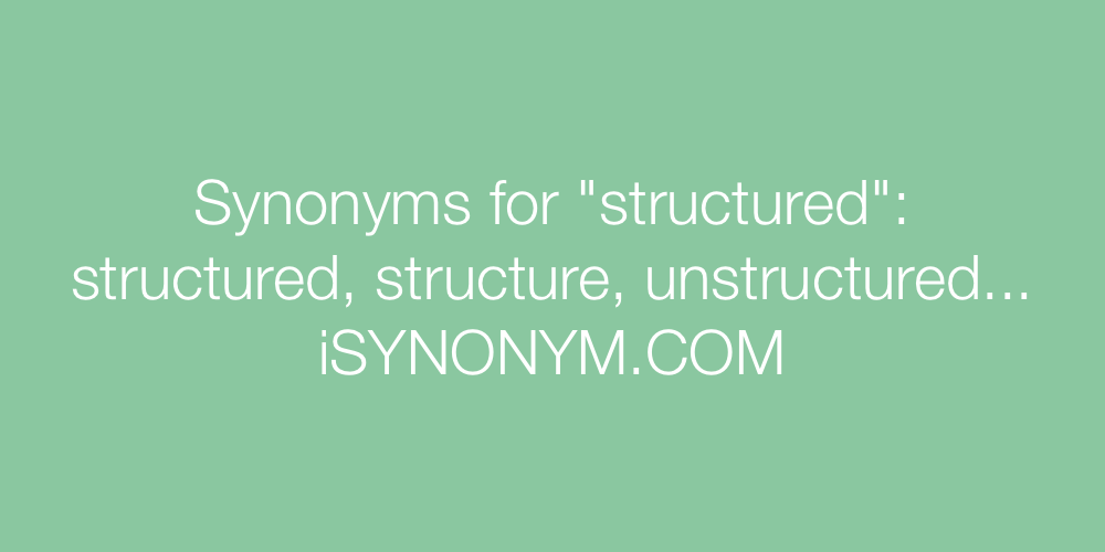 Synonyms structured