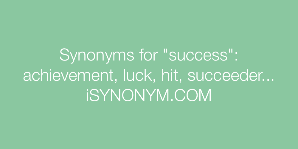 Synonyms success
