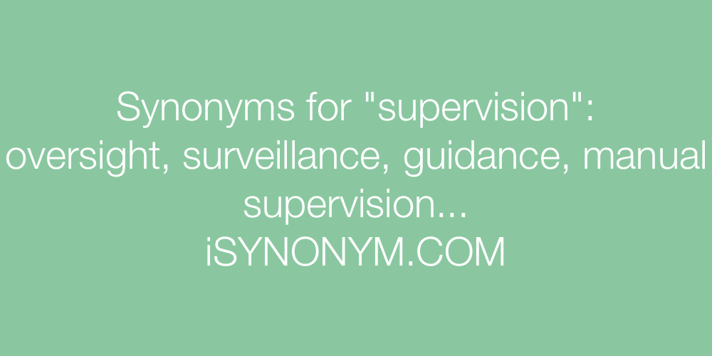 Synonyms supervision