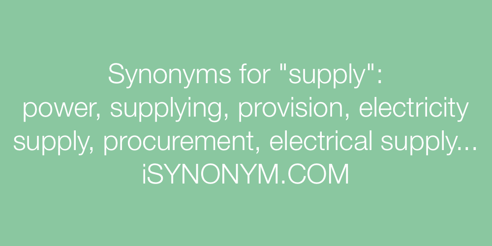 Synonyms supply