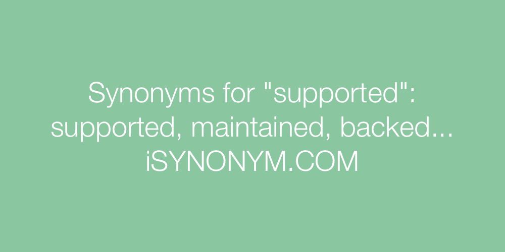 Synonyms supported