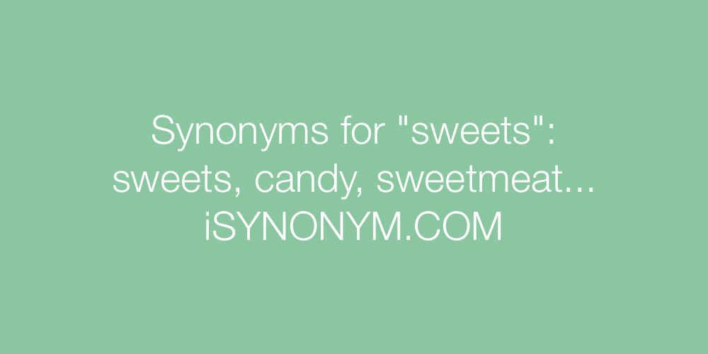 Synonyms sweets
