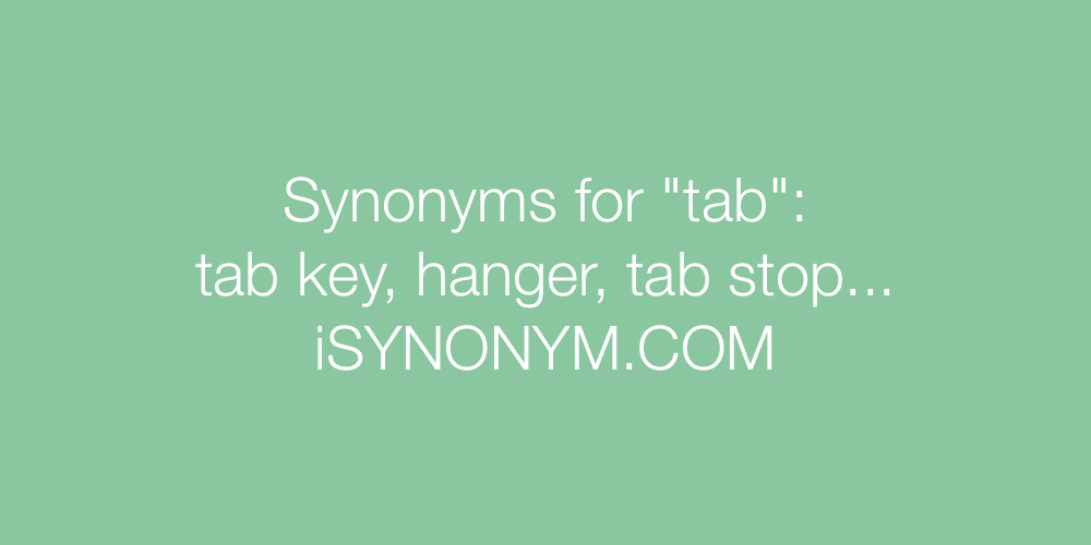 Synonyms tab