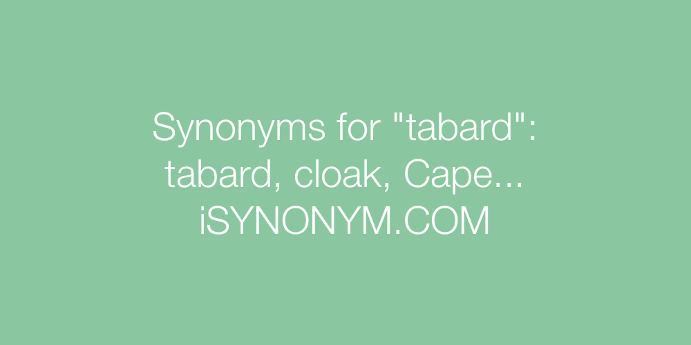 Synonyms tabard