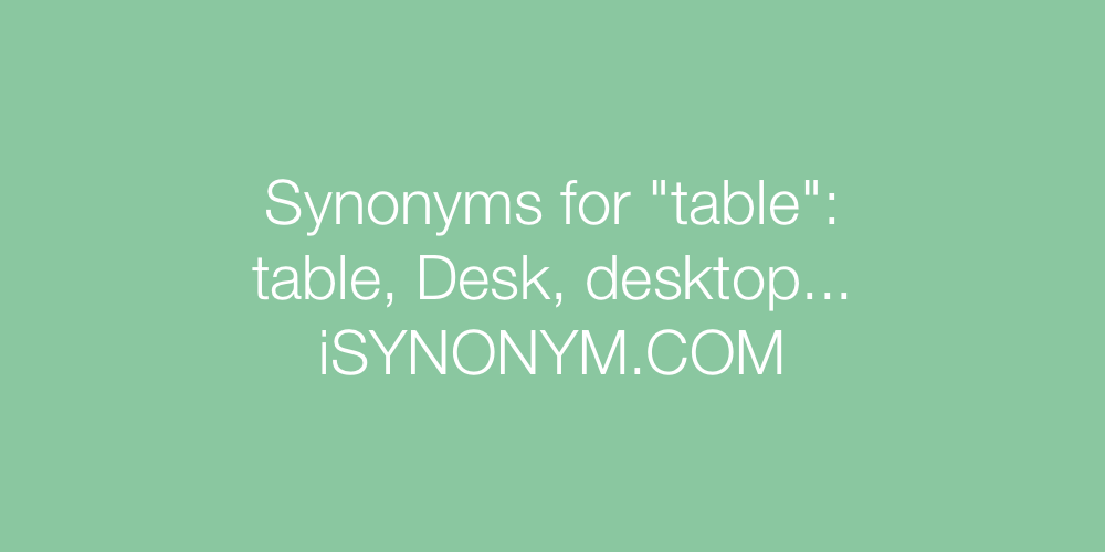 Synonyms table