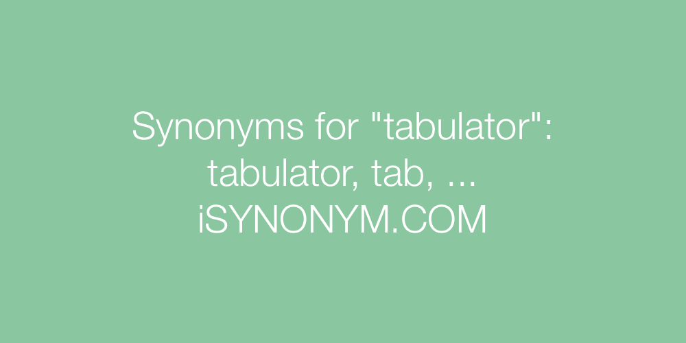 Synonyms tabulator