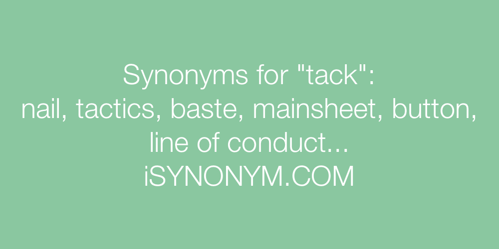 Synonyms tack