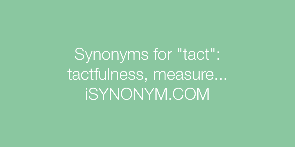 Synonyms tact