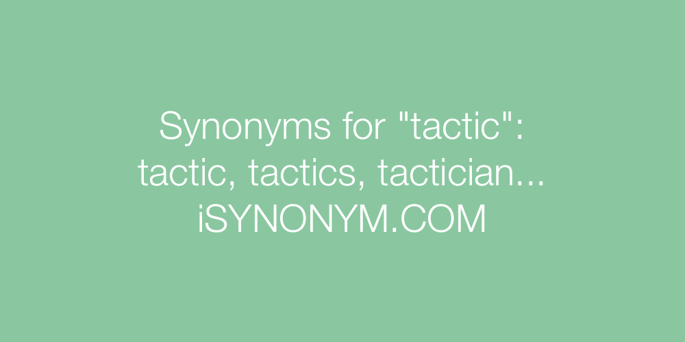Synonyms tactic