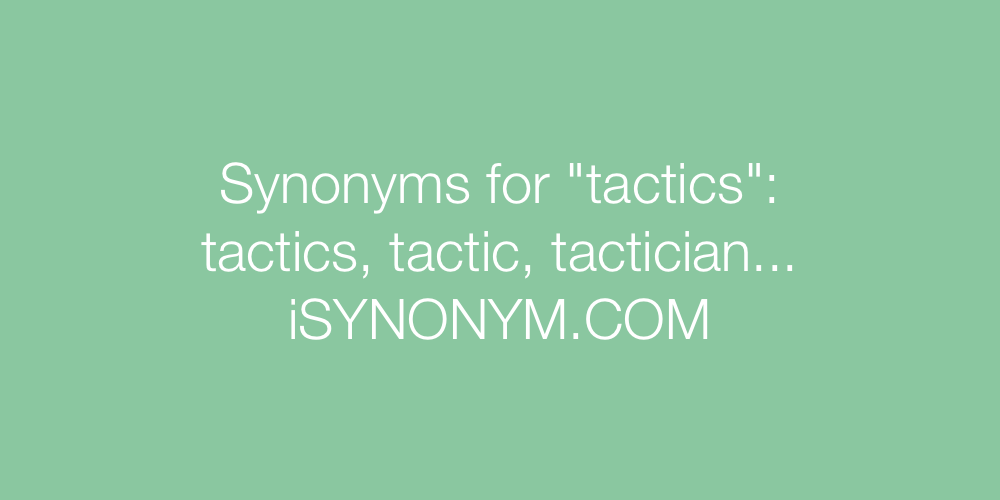 Synonyms tactics
