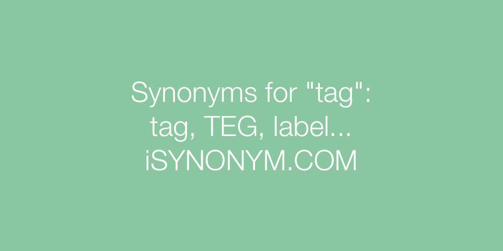 Synonyms tag