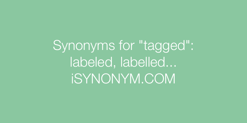 Synonyms tagged