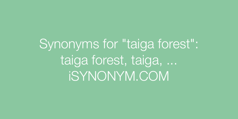 Synonyms taiga forest